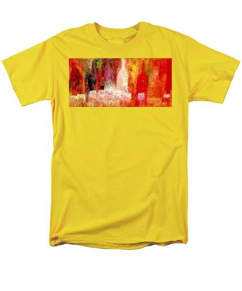 Men's T-Shirt  (Regular Fit) featuring the painting Broadway Wine Chorus  by Lisa Kaiser
