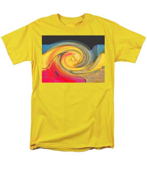Men's T-Shirt  (Regular Fit) featuring the photograph Curb Swirl by Brooks Garten Hauschild