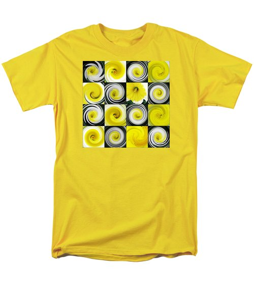 Daffodil Spring Mosaic Men's T-Shirt  (Regular Fit) by Sarah Loft