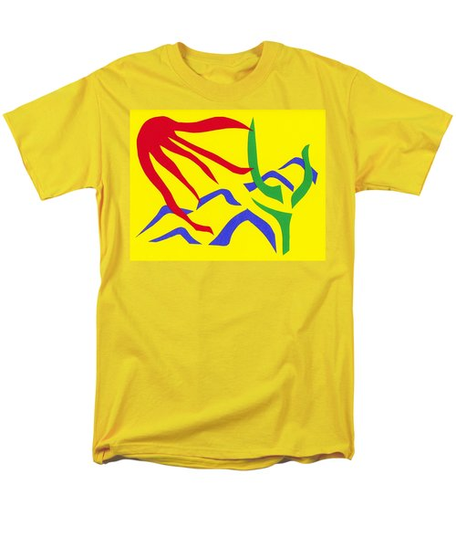 Men's T-Shirt  (Regular Fit) featuring the mixed media Desert Sun by Delin Colon
