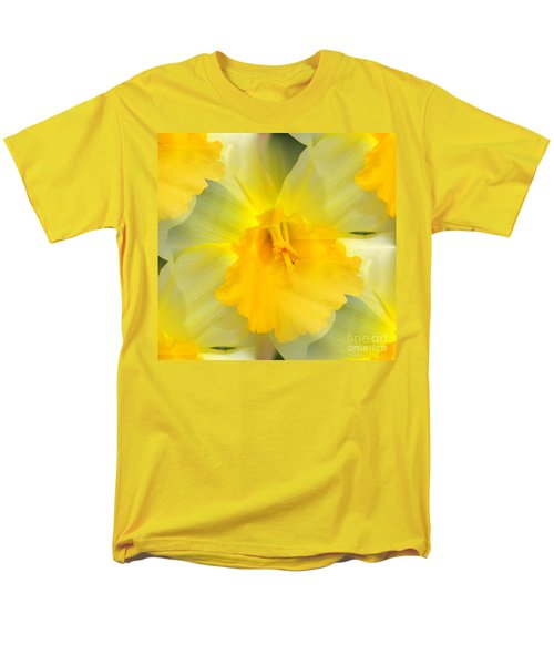 Men's T-Shirt  (Regular Fit) featuring the photograph Endless Yellow Daffodil by Judy Palkimas
