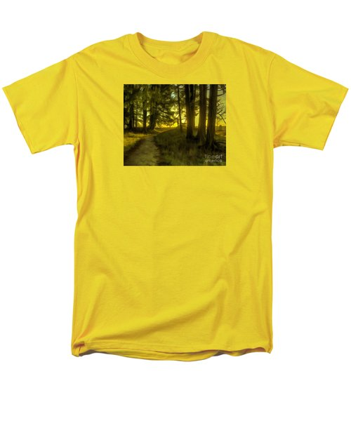 Forest Path Men's T-Shirt  (Regular Fit) by Jean OKeeffe Macro Abundance Art
