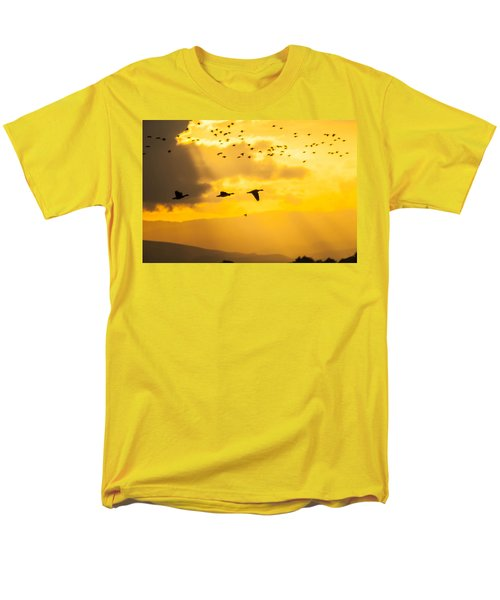 Geese At Sunset-2 Men's T-Shirt  (Regular Fit) by Brian Williamson