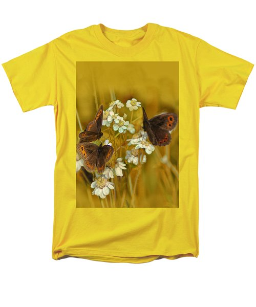 Gold And Brown Men's T-Shirt  (Regular Fit) by Jacqi Elmslie