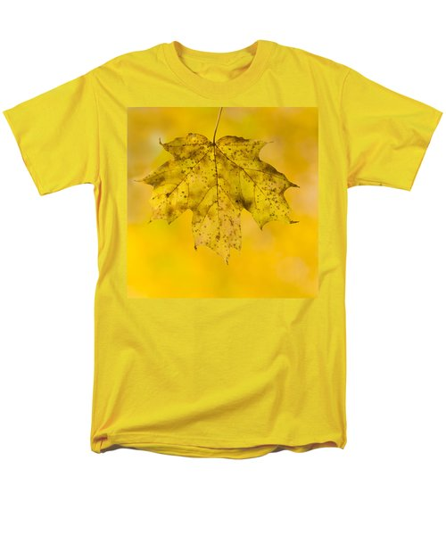 Men's T-Shirt  (Regular Fit) featuring the photograph Golden Maple Leaf by Sebastian Musial