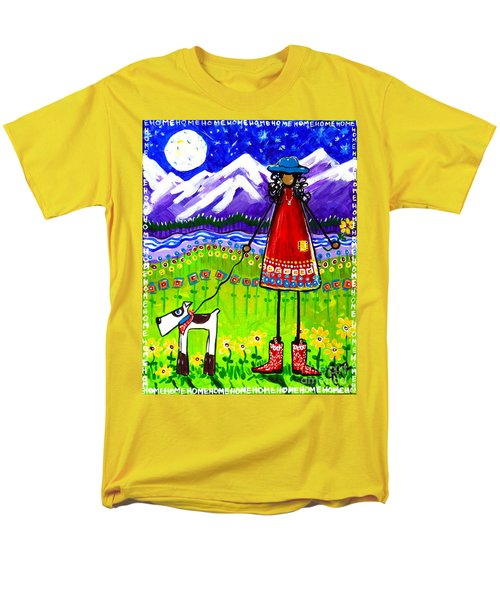Men's T-Shirt  (Regular Fit) featuring the painting Home by Jackie Carpenter