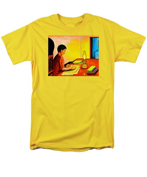 Men's T-Shirt  (Regular Fit) featuring the painting Homework by Cyril Maza