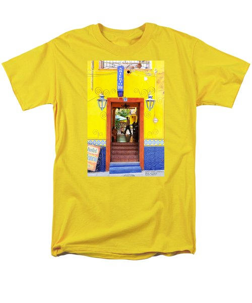 Men's T-Shirt  (Regular Fit) featuring the photograph Hotel Estancia - Ajijic - Mexico by David Perry Lawrence