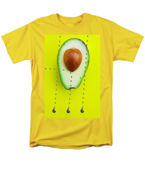 Men's T-Shirt  (Regular Fit) featuring the photograph Hunters Depicting Rutherford Atomic Model By Avocado Food Physics by Paul Ge