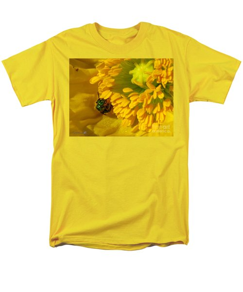 Men's T-Shirt  (Regular Fit) featuring the photograph Iceland Poppy Pollination by J McCombie