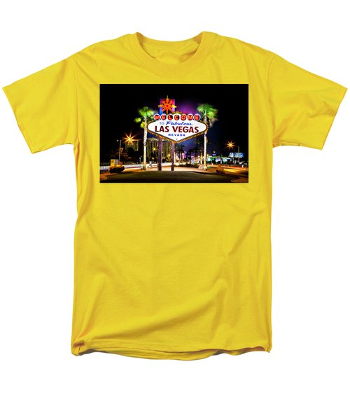 Las Vegas Sign Men's T-Shirt  (Regular Fit) by Az Jackson