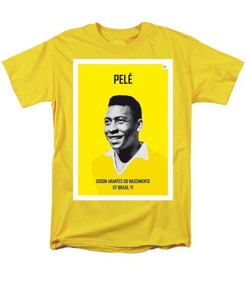 My Pele Soccer Legend Poster Men's T-Shirt  (Regular Fit) by Chungkong Art