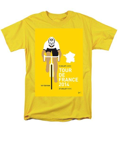 My Tour De France Minimal Poster 2014 Men's T-Shirt  (Regular Fit)