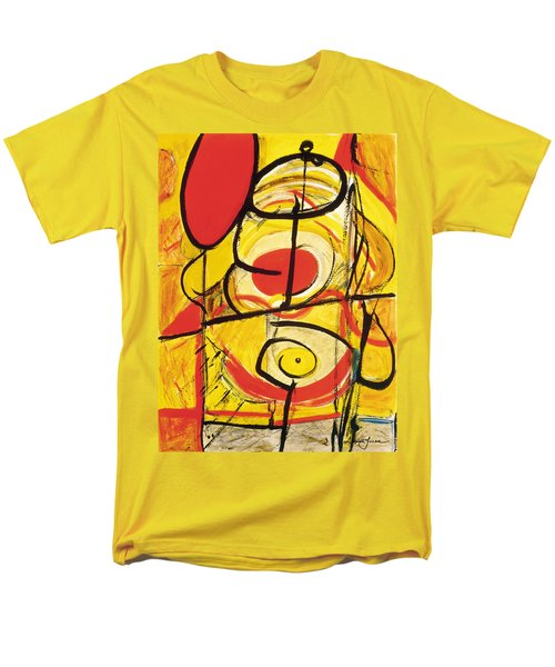 Men's T-Shirt  (Regular Fit) featuring the painting Relativity 3 by Stephen Lucas