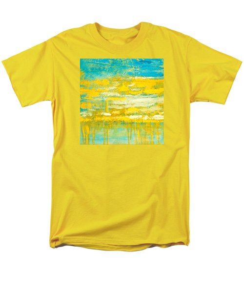 Men's T-Shirt  (Regular Fit) featuring the painting River Of Praise by Donna Dixon