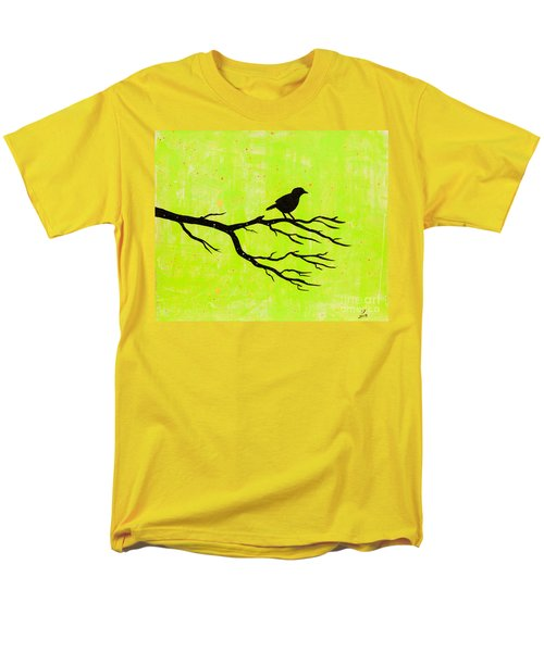 Silhouette Green Men's T-Shirt  (Regular Fit) by Stefanie Forck
