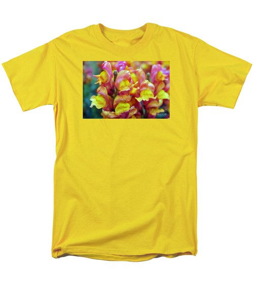Men's T-Shirt  (Regular Fit) featuring the photograph Snapdragons by Cassandra Buckley