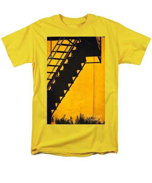 Men's T-Shirt  (Regular Fit) featuring the photograph Staircase Shadow by Silvia Ganora