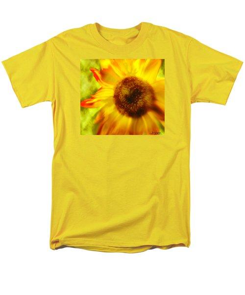 Men's T-Shirt  (Regular Fit) featuring the digital art Sunflower-a-blaze by Janie Johnson