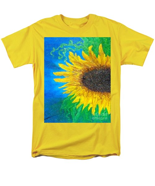 Men's T-Shirt  (Regular Fit) featuring the painting Sunflower by Holly Martinson