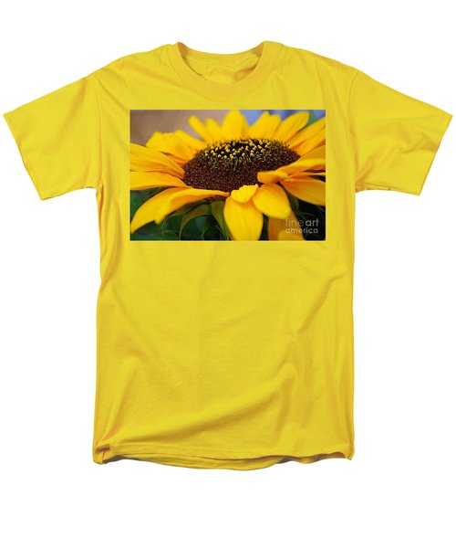 Men's T-Shirt  (Regular Fit) featuring the photograph Sunflower Portrait Two by John S