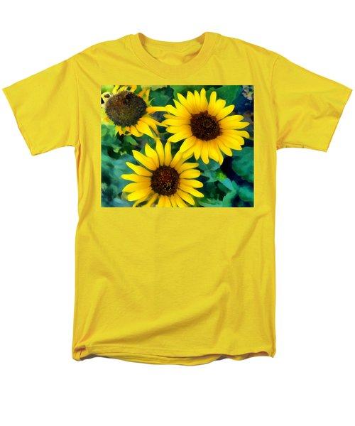 Sunflower Trio  Men's T-Shirt  (Regular Fit) by Ann Powell