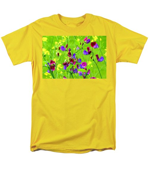 Men's T-Shirt  (Regular Fit) featuring the photograph Sweet Peas by Byron Varvarigos