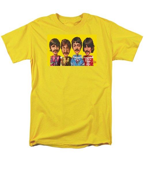Men's T-Shirt  (Regular Fit) featuring the digital art The Beatles by Scott Ross