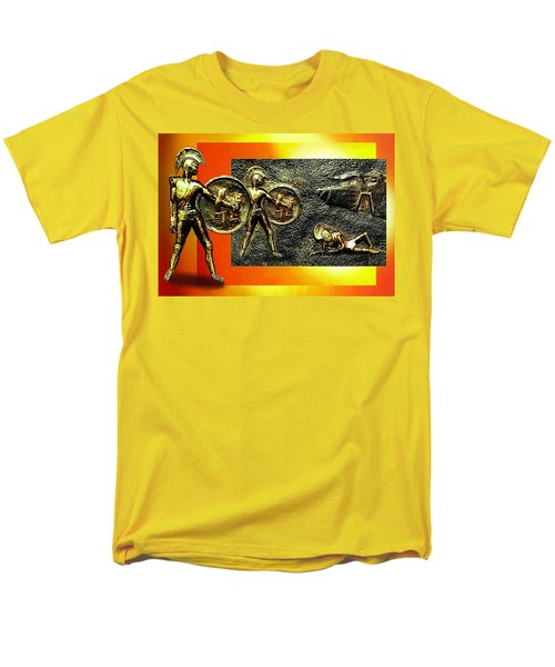 Men's T-Shirt  (Regular Fit) featuring the relief The Legends Of Troy. . .  by Hartmut Jager