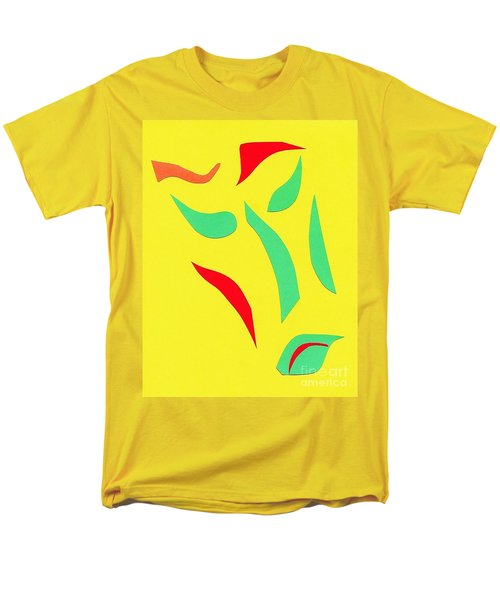 Men's T-Shirt  (Regular Fit) featuring the mixed media The Mask by Delin Colon
