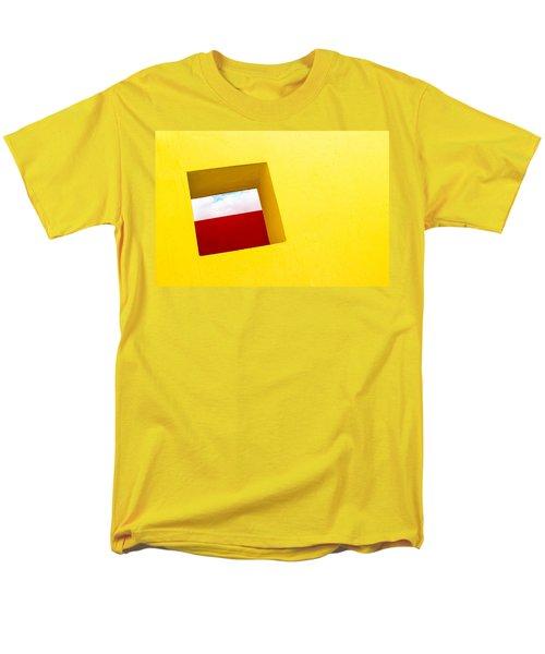 the Red Rectangle Men's T-Shirt  (Regular Fit) by Prakash Ghai