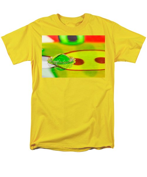 Men's T-Shirt  (Regular Fit) featuring the photograph Water Crown by Peter Lakomy
