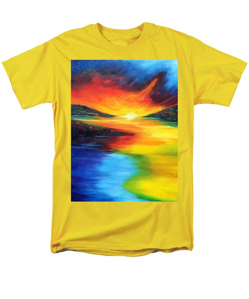 Men's T-Shirt  (Regular Fit) featuring the painting Waters Of Home by Meaghan Troup