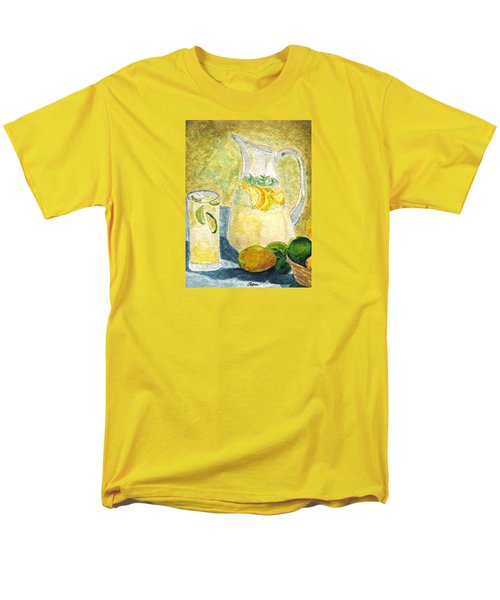 Men's T-Shirt  (Regular Fit) featuring the painting When Life Gives You Lemons by Angela Davies