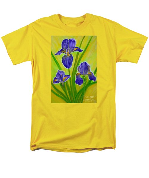 Wonderful Iris Flowers 3 Men's T-Shirt  (Regular Fit)