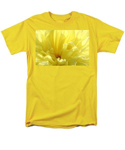 Yellow Dahlia Burst Men's T-Shirt  (Regular Fit) by Ben and Raisa Gertsberg