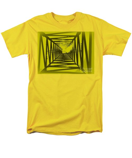 Men's T-Shirt  (Regular Fit) featuring the photograph Yellow Perspective by Clare Bevan