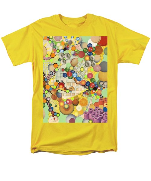 Men's T-Shirt  (Regular Fit) featuring the mixed media Globious Maximous by Douglas Fromm