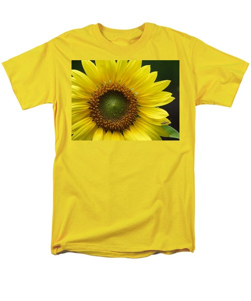 Men's T-Shirt  (Regular Fit) featuring the photograph Sunflower With Insect by Daniel Reed