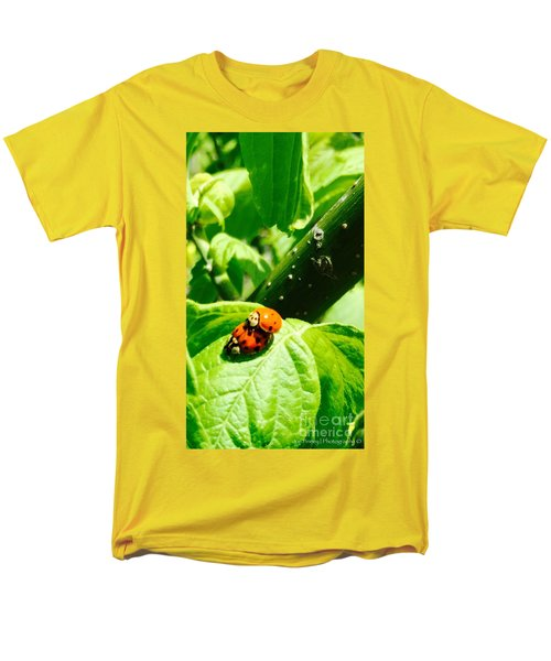 Men's T-Shirt  (Regular Fit) featuring the photograph  Ladybugs In Love - No. 2016 by Joe Finney