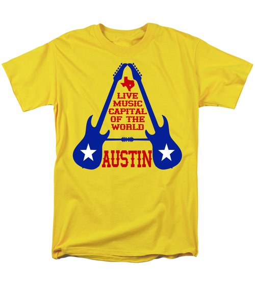 Austin Live Music Capital Of The World Men's T-Shirt  (Regular Fit) by David G Paul
