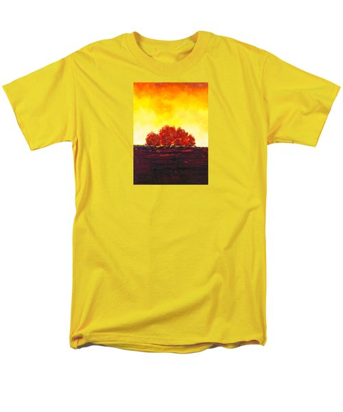 Men's T-Shirt  (Regular Fit) featuring the painting Big Red by William Renzulli