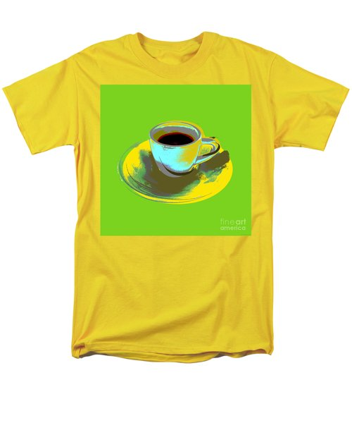 Men's T-Shirt  (Regular Fit) featuring the digital art Coffee Cup Pop Art by Jean luc Comperat
