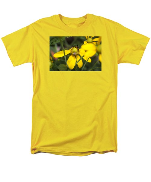 Green Headed Coneflowers Painted Men's T-Shirt  (Regular Fit) by Rich Franco