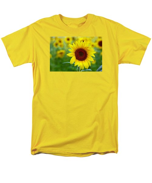 Sunflower Time Men's T-Shirt  (Regular Fit) by Karen McKenzie McAdoo