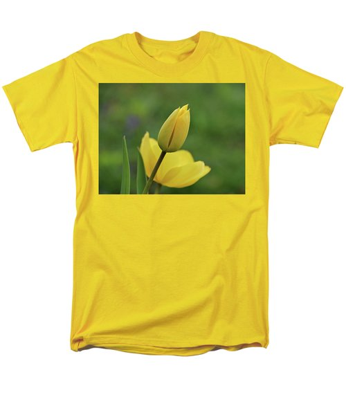 Men's T-Shirt  (Regular Fit) featuring the photograph Yellow Tulips by Sandy Keeton