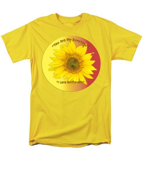 You Are My Sunshine Men's T-Shirt  (Regular Fit) by Thomas Young