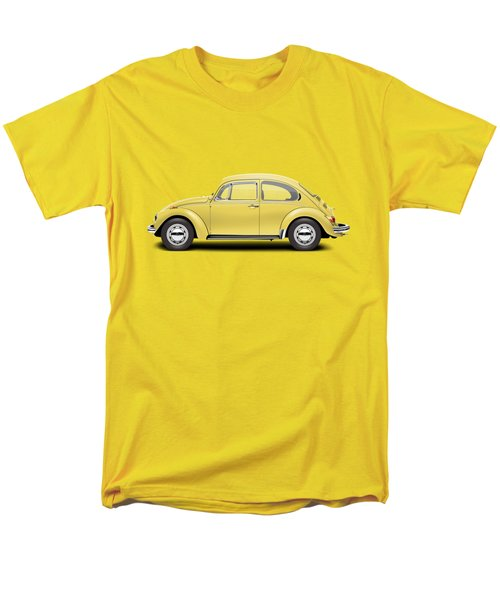 1972 Volkswagen Beetle - Saturn Yellow Men's T-Shirt  (Regular Fit)