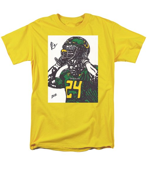 Men's T-Shirt  (Regular Fit) featuring the drawing Kenjon Barner 1 by Jeremiah Colley
