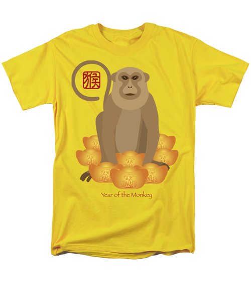 2016 Chinese Year Of The Monkey With Gold Bars Men's T-Shirt  (Regular Fit) by Jit Lim